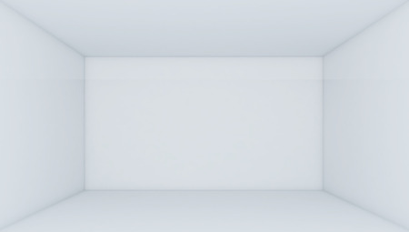 perspective room: Empty White Room - 3d Perspective illustration Stock Photo