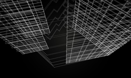 Abstract design. Modern architecture wireframe space Vector