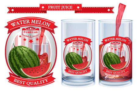 water melon: Water melon juice Label visual