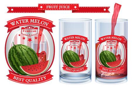 nonalcoholic: Water melon juice Label visual