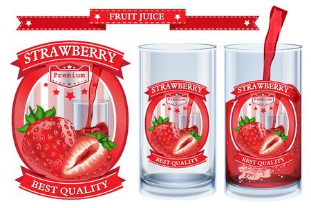 nonalcoholic: Fruit juice Label visual