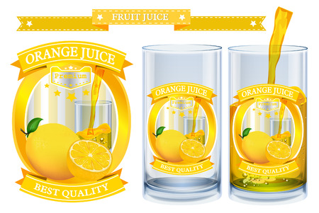 juice: Fruit juice Label visual