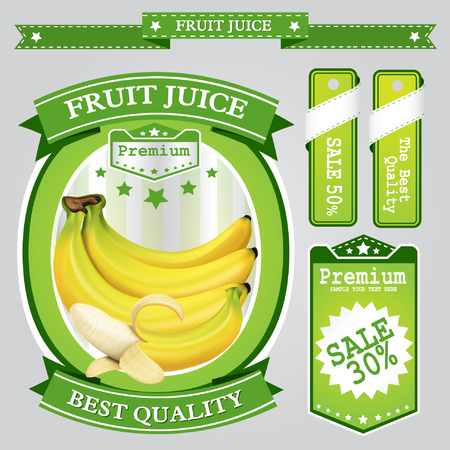 non alcoholic: Fruit juice Label vector visual, ideal for fruit juice. Can drawn with mesh tool. Fully adjustable & scalable. Vector illustration