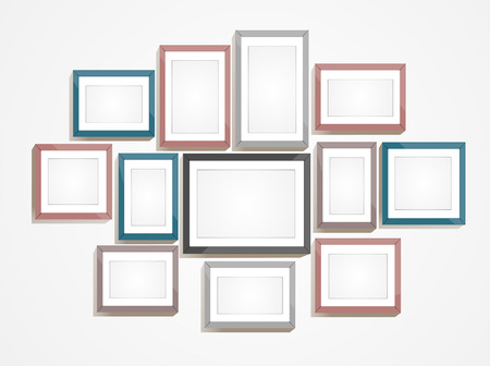 photo gallery: Picture frame vector. Photo art gallery Illustration