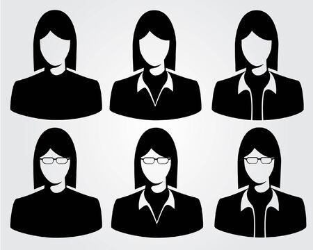 photo icon: People profile silhouettes. vector illustration Illustration