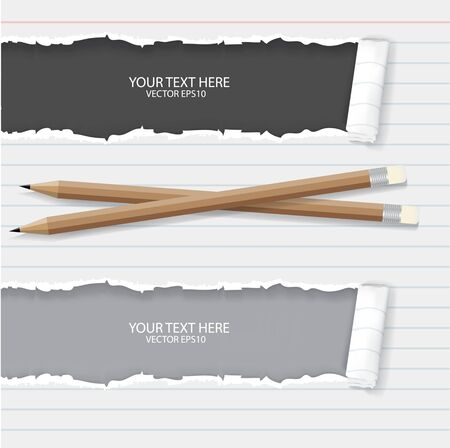notebook paper: Notebook paper with pencils