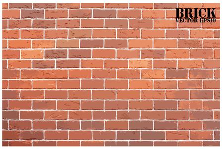 Background of vintage brick wall 矢量图像