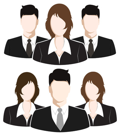 associate: Group of Business People. Business Team concept