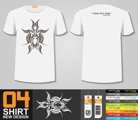 shirt template: T-Shirt Design,Tribal Tattoo design,Print Design Illustration