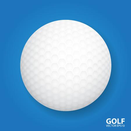 pelota de golf: Pelota de golf. Ilustraci�n vectorial