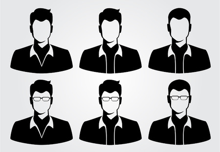 male female: silhouette business people Illustration