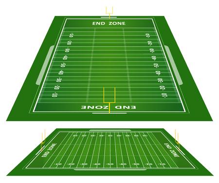 terrain de foot: terrain de football en herbe texturée américaine Illustration
