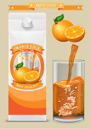 pack: White carton boxes with Label vector visual, ideal for fruit juice. Can drawn with mesh tool. Fully adjustable  scalable. packages design