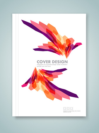 Cover report and brochure colorful geometric design background, vector illustration Imagens - 45644391