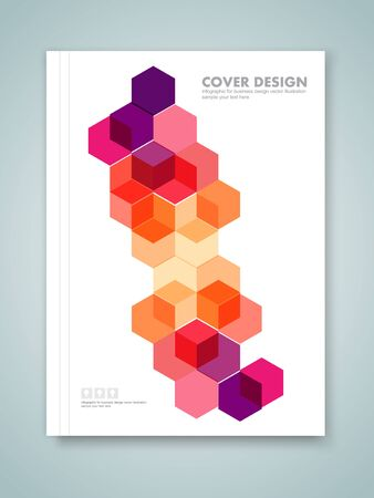 multiply: Cover report and brochure colorful geometric design background, vector illustration Illustration