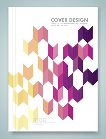 multiplicar: Informe de la cubierta y el folleto fondo colorido diseño geométrico, ilustración vectorial
