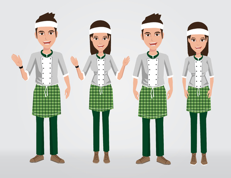 the latest models: Fashion Seller uniform set
