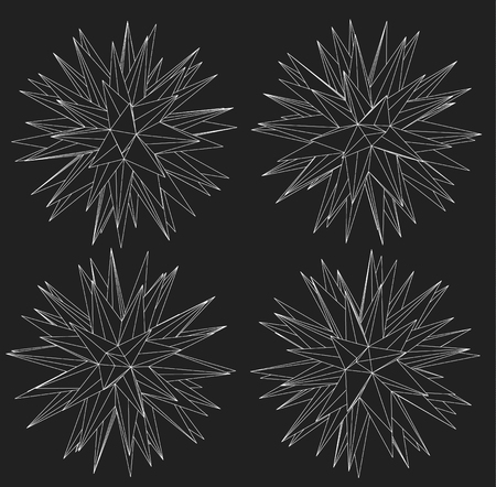 mesh: Wireframe mesh polygonal element. Vector Illustration