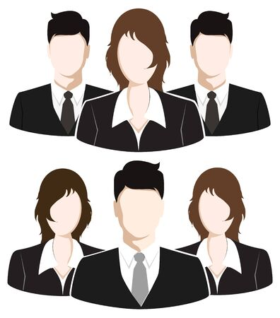 team group: Group of Business People. Business Team concept