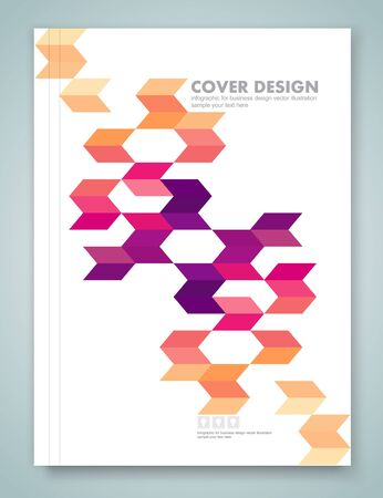 concepts and ideas: Cover report and brochure colorful geometric design background, vector illustration Illustration