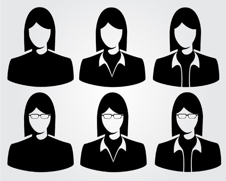 asian business woman: silhouette business