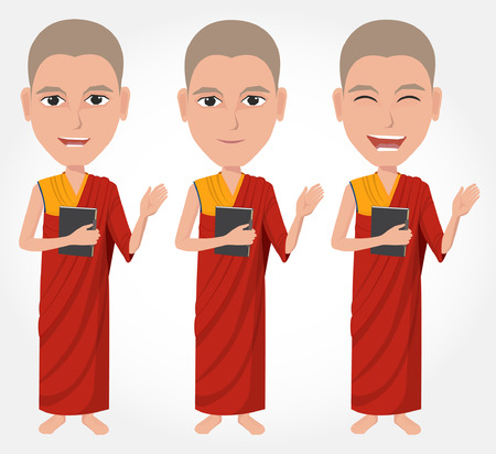 clergyman: Tibetan Buddhist monk cartoon Illustration