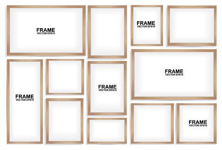 Los marcos de madera Foto de archivo - 43651500