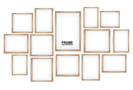 houten frames Stock Illustratie
