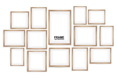 marco madera: marcos de madera Vectores
