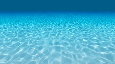transparente: fondo de arena, azul y la superficie bajo el agua