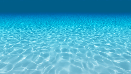 Sandy bottom, blue and surface underwater Standard-Bild