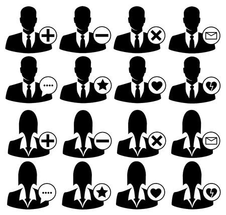 add: Vector social media icons. avatars icons set. Illustration