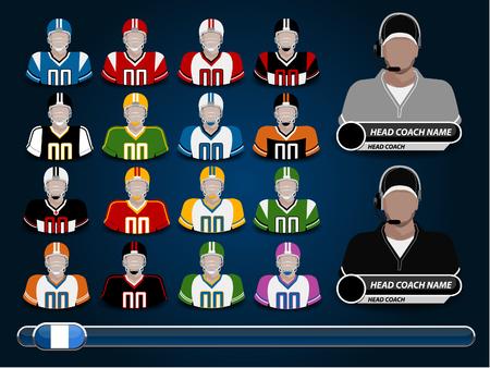 football jersey: A vector illustration of American football jersey