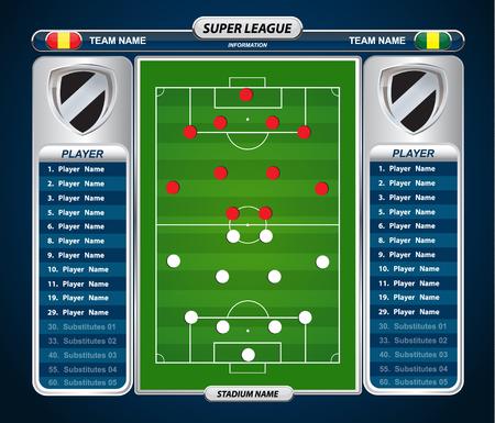 football field: vector info graphic football field statistics
