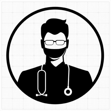 Doctor icon vector Illustration