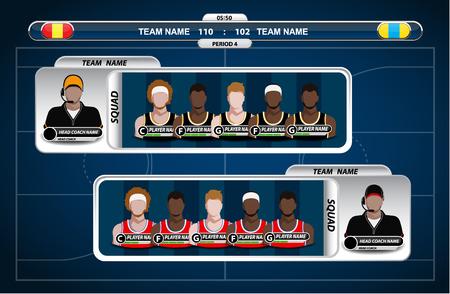 tournament chart: Basketball Player Lineup