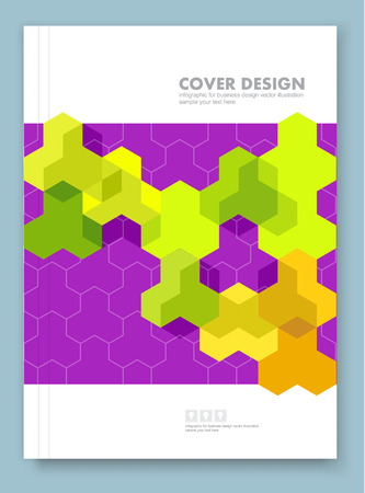 book cover design: Cover report and brochure colorful geometric design background, vector illustration Illustration