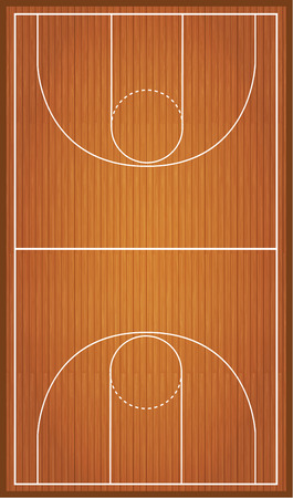 line pattern: Basketball court, parquet Illustration