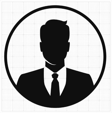 People profile silhouettes. vector illustration Ilustração