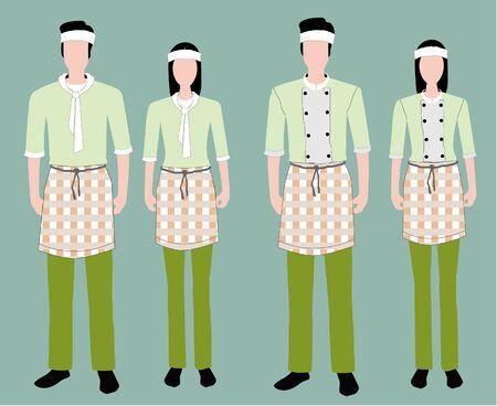 front view: Fashion uniform set.