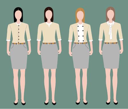 bussines: Fashion uniform set.