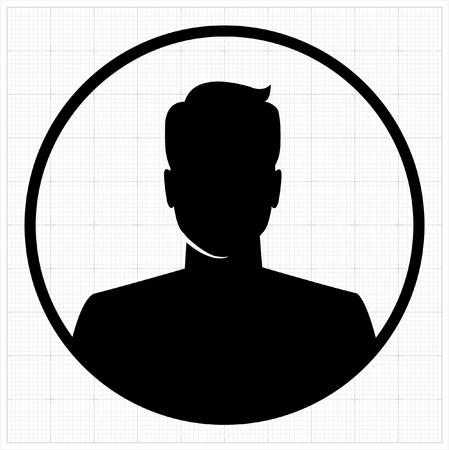 masculino: Perfil de las personas siluetas. ilustración vectorial