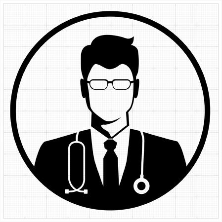black man white woman: Doctor icon