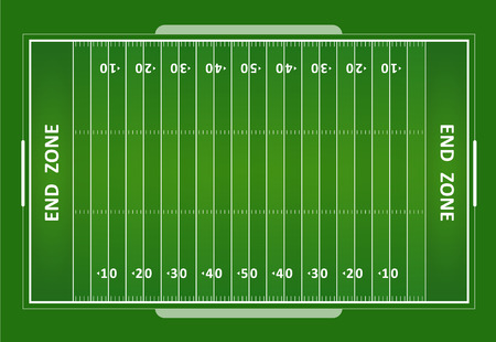 A vector grass textured American football field. EPS 10. Banco de Imagens - 45573478