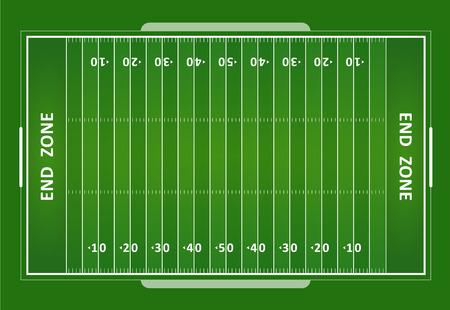 campo di calcio: Un erba vettore strutturato campo di football americano. EPS 10.