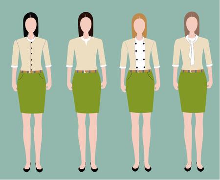 confidant: Woman in uniform design