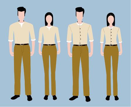 uniformes de oficina: Conjunto uniforme de la Moda. Vectores