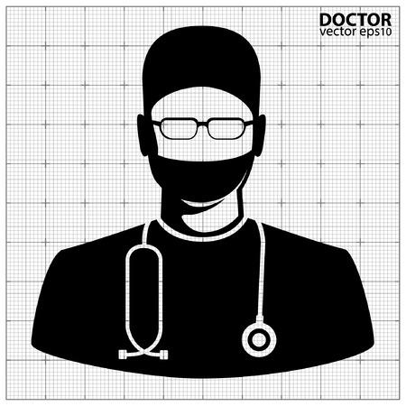 portrait man: Doctor icon