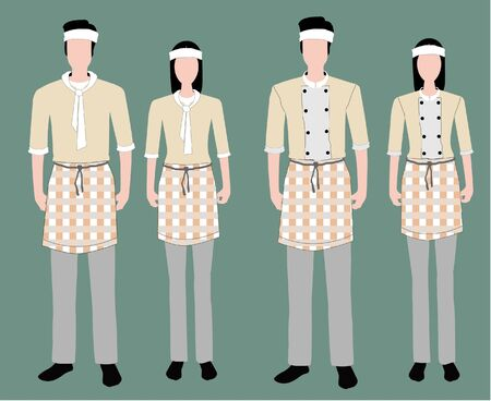clothing store: Fashion uniform set.