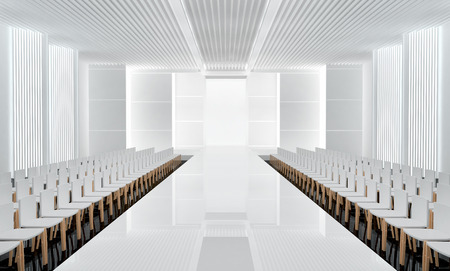 3D illustration of fashion empty runway. before a fashion show Banque d'images